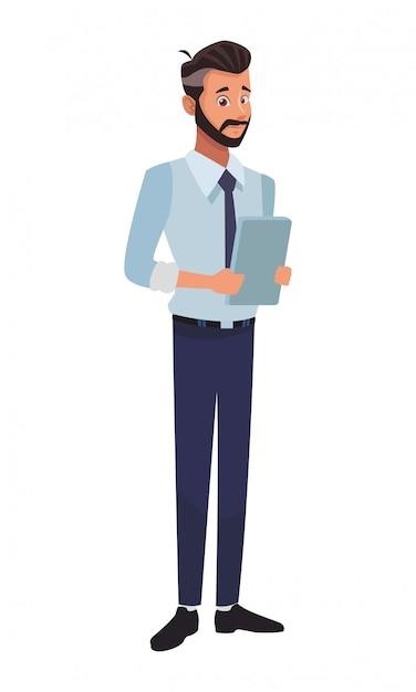 Executive businessman cartoon Premium Vector