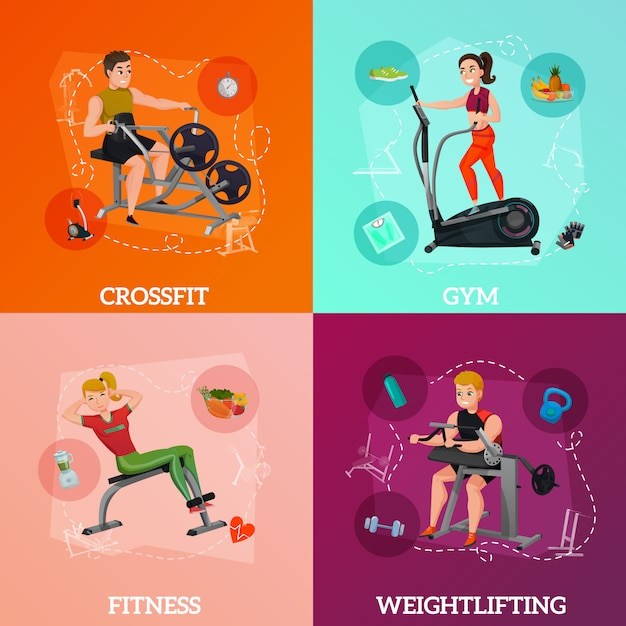 Exercise equipment concept Free Vector