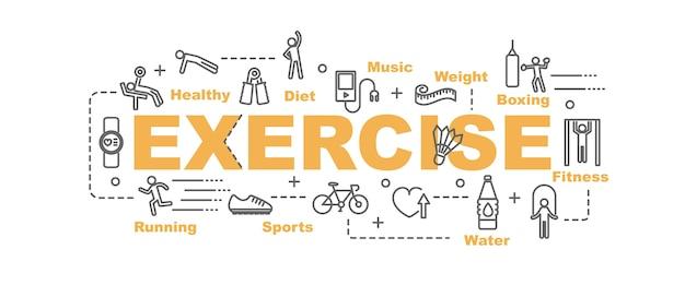Exercise vector banner Premium Vector