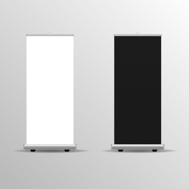 Exhibition Stand Template : Exhibition stand roll up banner template vector premium download