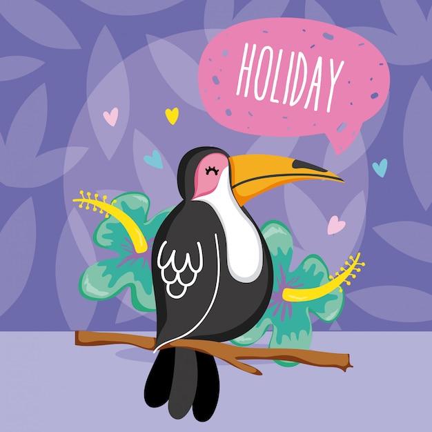 Exotic birds cartoon Premium Vector