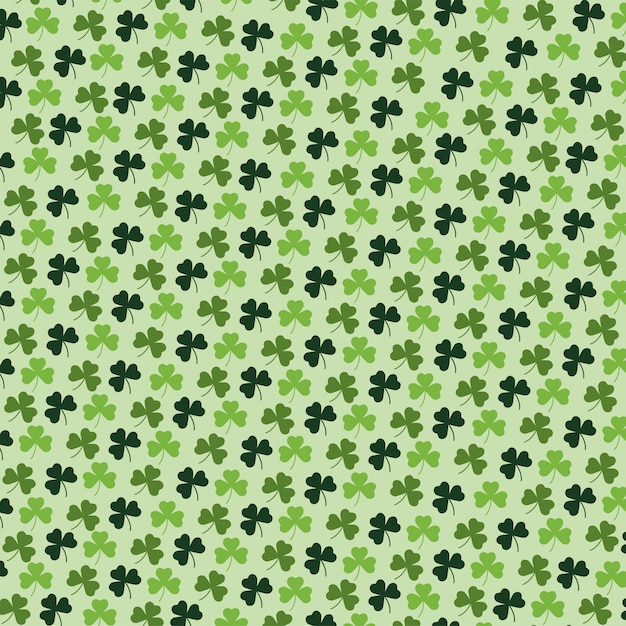 Exotic clovers plants with leaves background Premium Vector