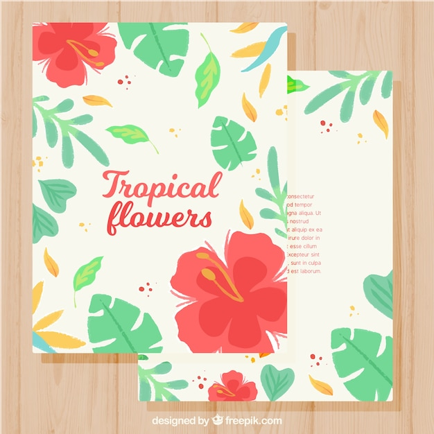 Exotic flowers card collectio