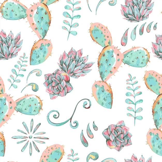 Exotic natural vintage seamless pattern Premium Vector