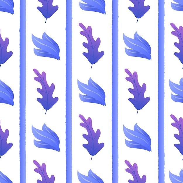 Экзотическое растение между полосами бесшовные шаблон Бесплатные векторы