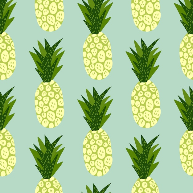 exotic tropical fruits pattern blue background hand drawn pineapple wallpaper 97843 742