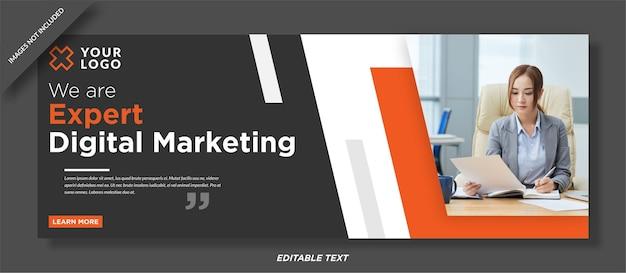 エキスパートデジタルマーケティングソーシャルメディアカバーデザイン Premiumベクター