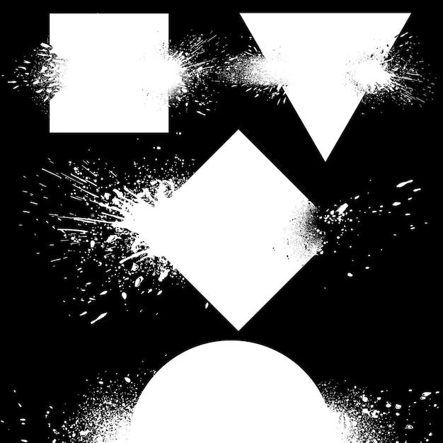 Set di distintivi che esplodono Vettore gratuito