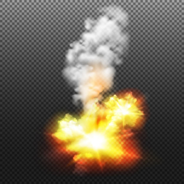 Explosion isolated illustration Free Vector