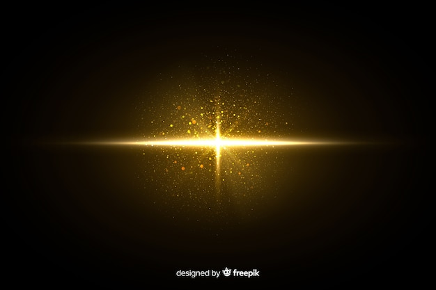 Explosion shiny particle effect at night Free Vector