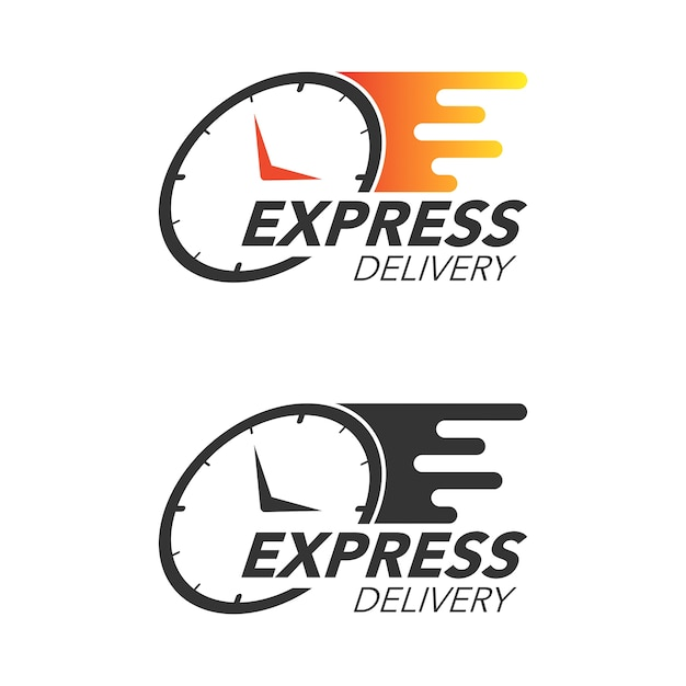 Express delivery icon concept. watch icon for service, order, fast and free shipping. modern design. Premium Vector