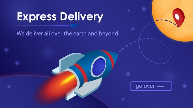 Express delivery service. Premium Vector