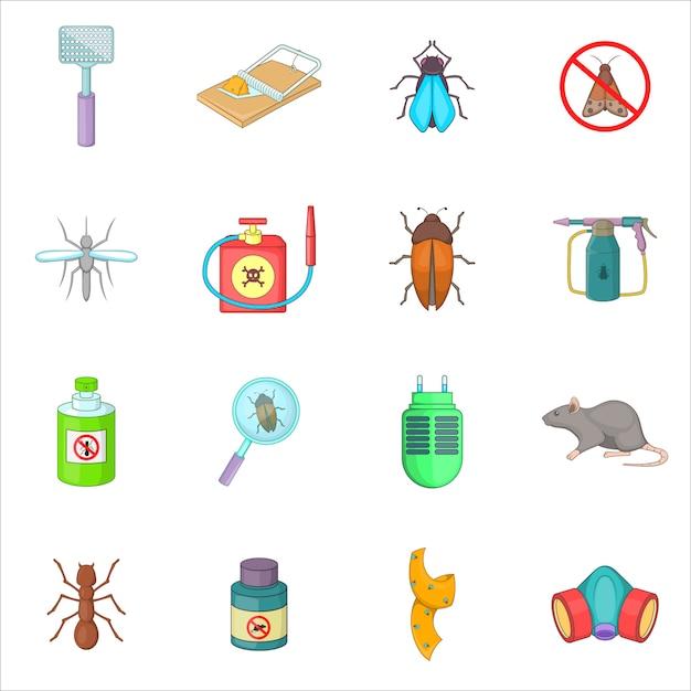 Exterminator icons set Premium Vector