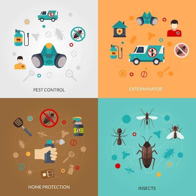 Exterminator pest control vector images Free Vector