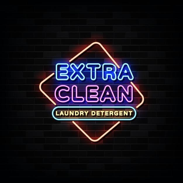 エクストラクリーンネオンサイン Premiumベクター