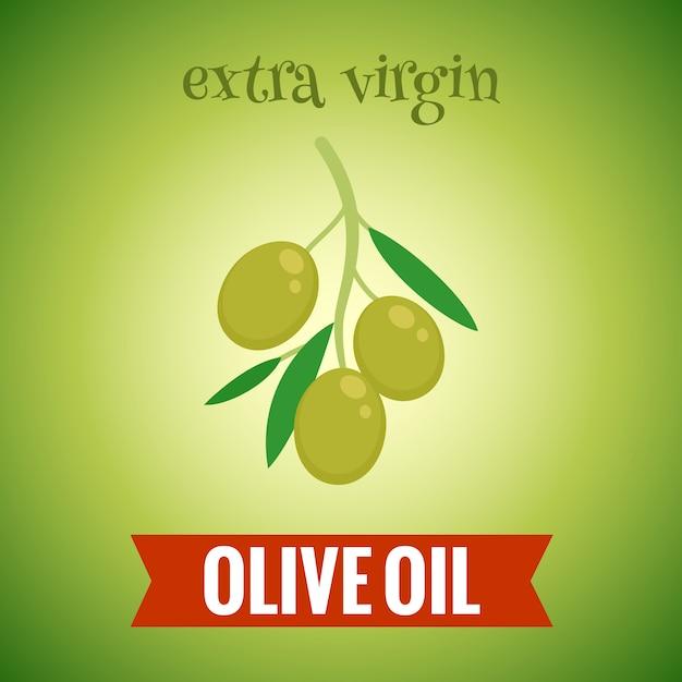 Extra virgin olive oil illustration Free Vector