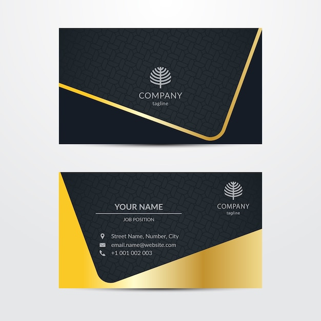Extravagant business card template Free Vector
