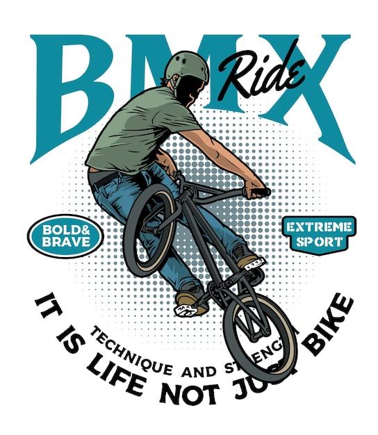 Extreme bmx rider Premium Vector