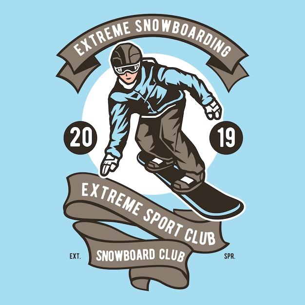 Extreme snowboarding Premium Vector