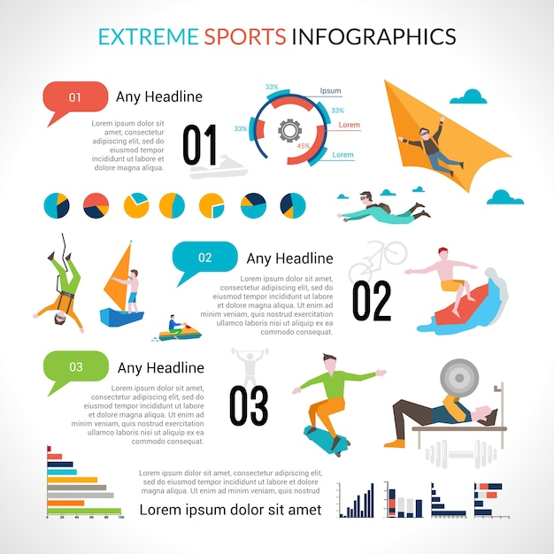 Extreme sports infographics vector free download extreme sports infographics free vector pronofoot35fo Gallery