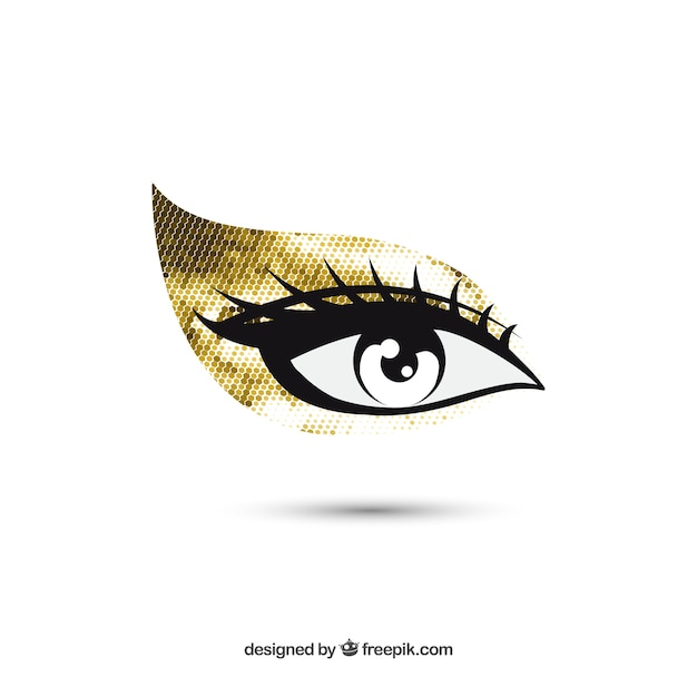 Eye golden makeup Vector