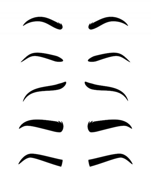 Eyebrow model set Premium Vector