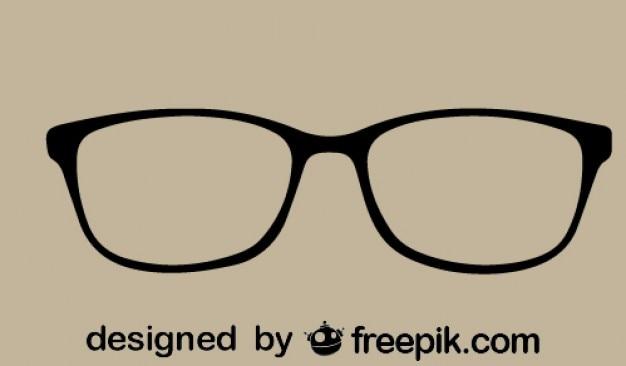 Eyeglasses icon retro style Free Vector