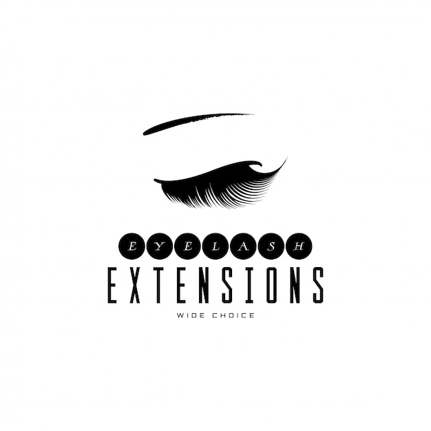 Eyelash extension banner. Premium Vector