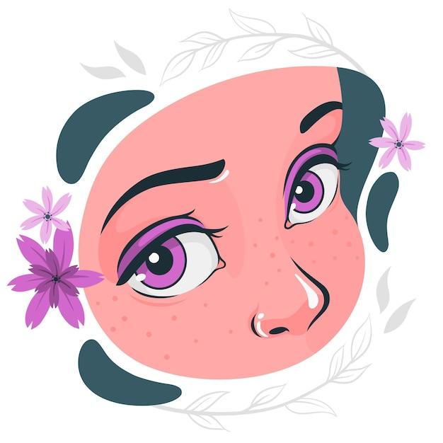 Иллюстрация концепции глаз Бесплатные векторы
