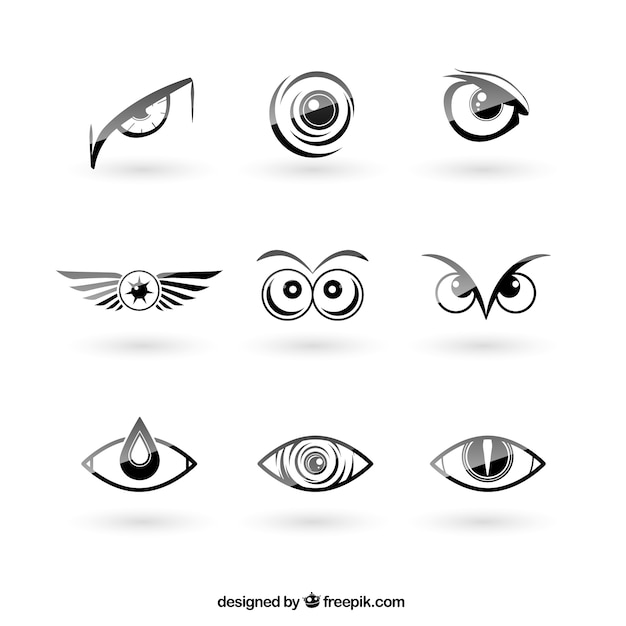 Eyes logos pack Free Vector