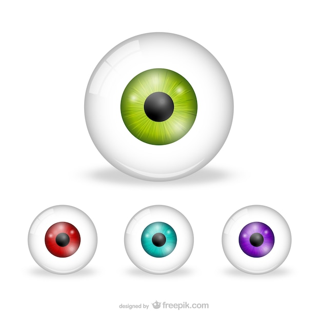 Eyes pack Free Vector