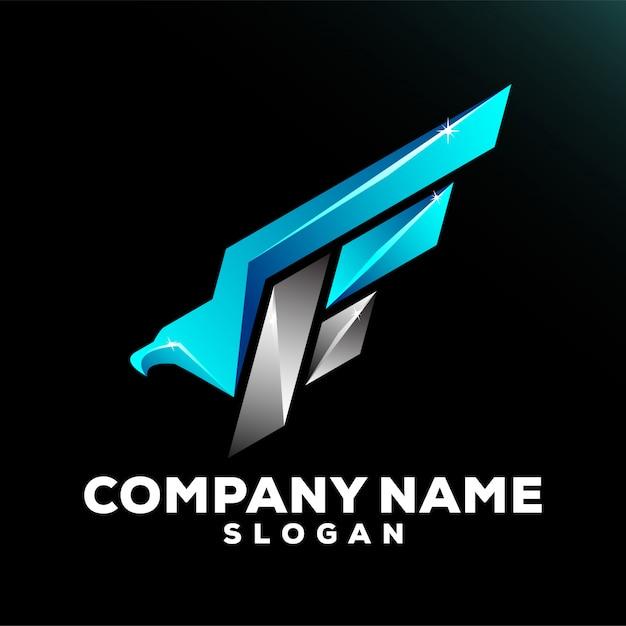 F eagle logo Premiumベクター