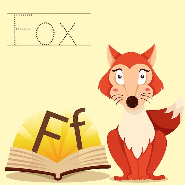 フォックス語彙のためのfのイラストレーター Premiumベクター