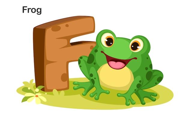カエルのためのf Premiumベクター