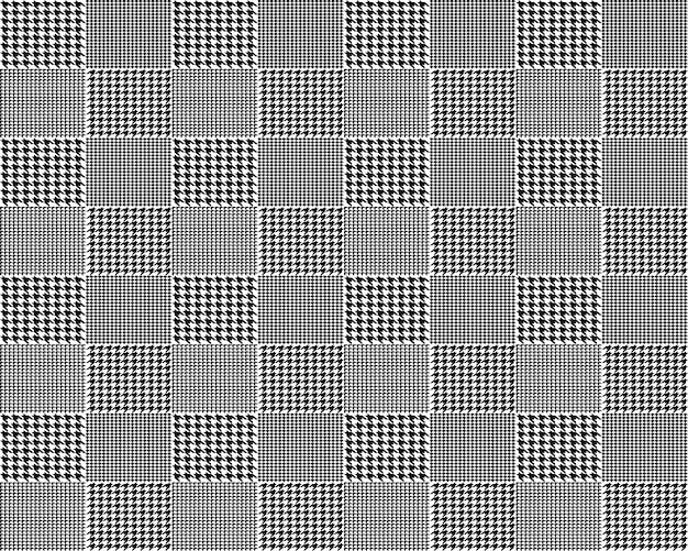Fabric houndstooth seamless pattern Premium Vector