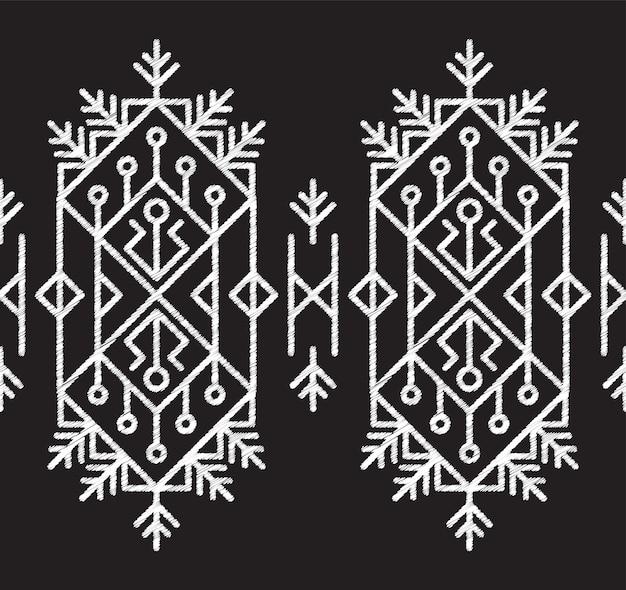 Fabric pattern tribal aztec seamless Premium Vector