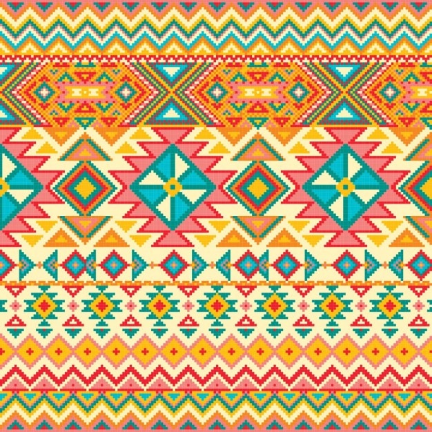 Fabric texture with geometric pattern Free Vector