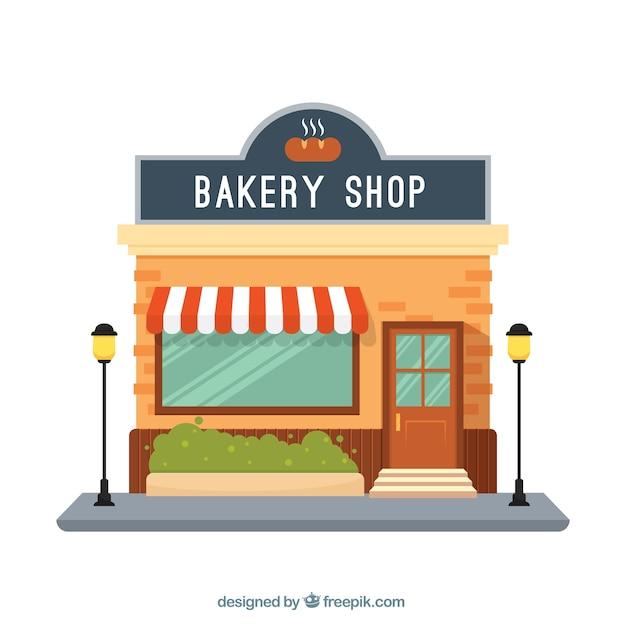 Facade bakery shop  Free Vector