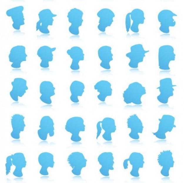 Faces Vector Files Face Avatar Collection Vector