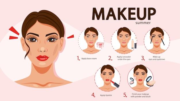 Premium Vector Face Makeup Tutorial