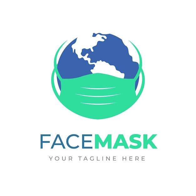 Face mask logo concept Free Vector