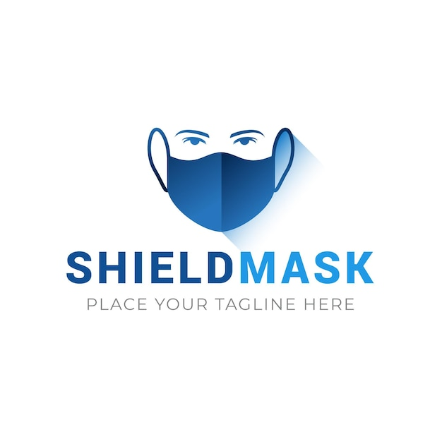 Concetto di marchio di maschera facciale Vettore gratuito