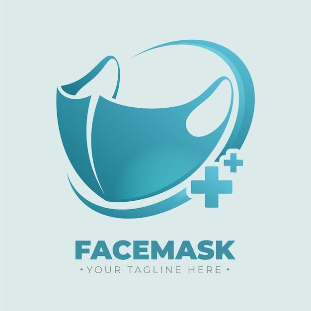 フェイスマスクのロゴテンプレート 無料ベクター