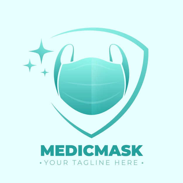 Face mask logo template Free Vector
