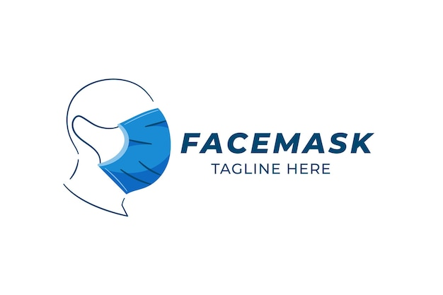 Face mask logo template Free Vector