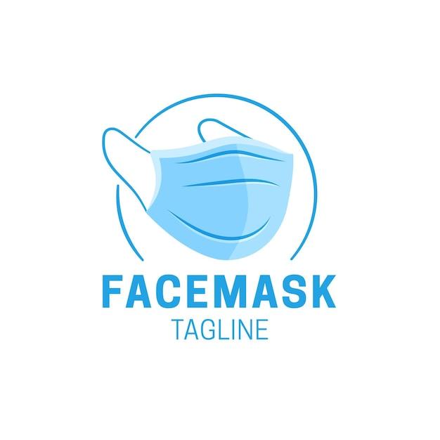 Face mask logo template Premium Vector
