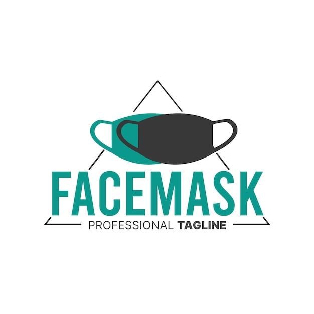 Logo della maschera per il viso Vettore gratuito