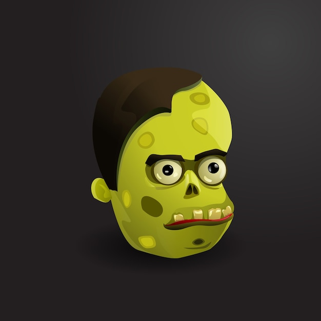 Face of zombie vector illustration Free Vector
