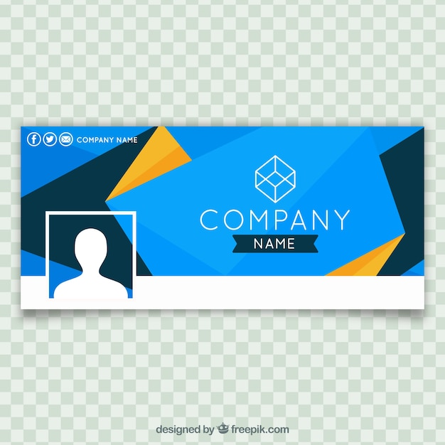 Facebook abstract blue company cover