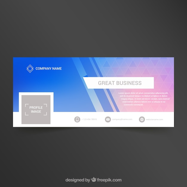 Facebook abstract cover for company